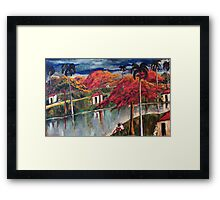 Victor Manuel Cuban Countryside Painting Framed Print