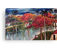 Victor Manuel Cuban Countryside Painting Canvas Print