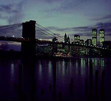 Twin Towers Brooklyn Bridge by Jimmy McHugh
