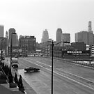 Downtown Kansas City – black and white photograph by RocklawnArts