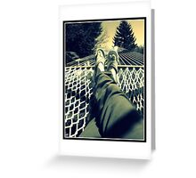 Relaxing in the summer sun Greeting Card