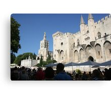The exciting town of Avignon Canvas Print
