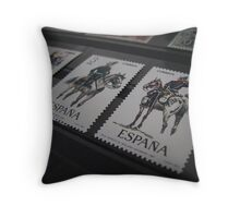 Post stamps of Spain. Throw Pillow