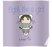 Fight Like a Girl - Interpol Agent Poster