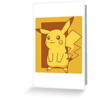 Minimalist Pikachu Greeting Card