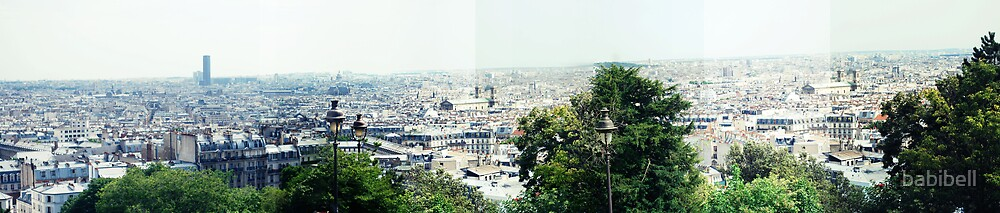 Panorama from Montmartre by Claire Dimond