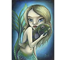 Mermaid and catfish Photographic Print