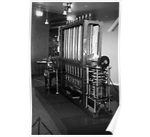 Babbage Difference Machine in Black and White, Computer History Museum, Mountain View, California Poster