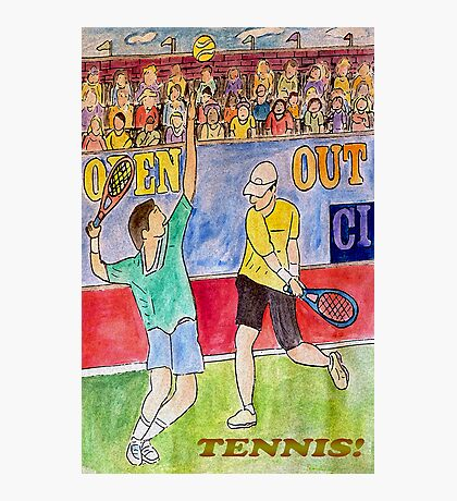 Tennis Strokes Photographic Print