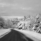 Maine Winter Backroad - One Lane Bridge Near by Christy  Bruna