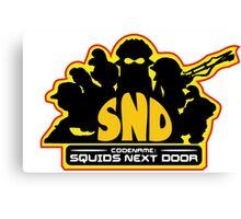 Codename: Squids Next Door Design Canvas Print