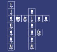 Fictional Creation Bibical Lies - White text by Geek Shirts