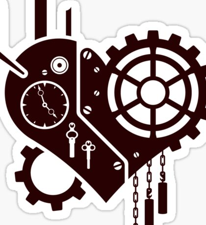 Clockwork Heart Sticker