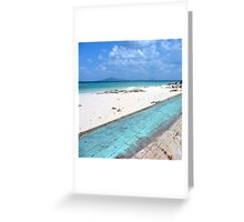 Calm after the storm, boat wreck on beach, Thailand  Greeting Card