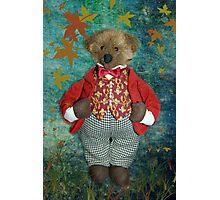 Smart Teddy Photographic Print