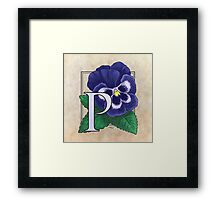 P is for Pansy Framed Print