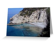 solitude is an empty beach, Samos Island, Greece Greeting Card