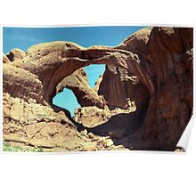 Double Arch: Arches National Park Poster