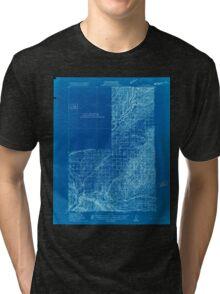 USGS Topo Map Washington Wallulah 244524 1915 96000 Inverted Tri-blend T-Shirt