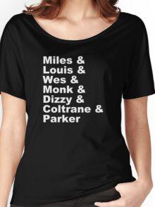 DIZZY MILES DAVIS SOUL FUNK MONK COOL Women's Relaxed Fit T-Shirt