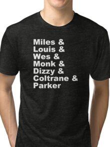 DIZZY MILES DAVIS SOUL FUNK MONK COOL Tri-blend T-Shirt