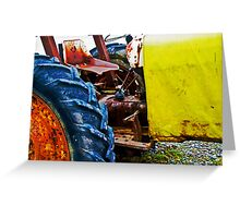 Beach Tractor Greeting Card