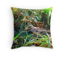 Dragonfly posed in flight Throw Pillow