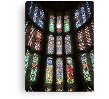 Henry VIII Stained Glass At Hampton Court Canvas Print