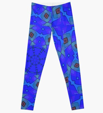 Modern Blue Scarf Leggings