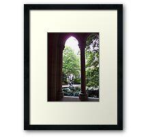 Cloistered fountain Framed Print