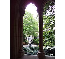 Cloistered fountain Photographic Print