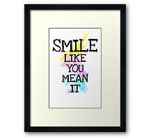smile like... Framed Print