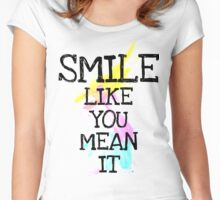 smile like... Women's Fitted Scoop T-Shirt
