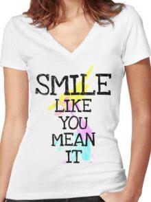 smile like... Women's Fitted V-Neck T-Shirt