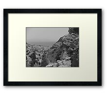 Rock formation with Dead Sea Framed Print