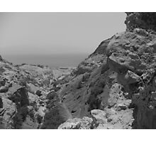 Rock formation with Dead Sea Photographic Print