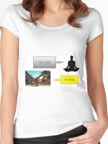 Street Fighter Yoga 2 Women's Fitted Scoop T-Shirt