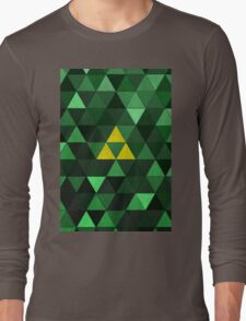 Triforce Quest (Green) Long Sleeve T-Shirt