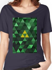 Triforce Quest (Green) Women's Relaxed Fit T-Shirt