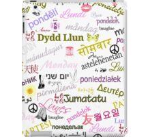 Monday Multi Language Print iPad Case/Skin