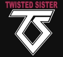 New TWISTED SISTER Old School Rock Band Baby Tee