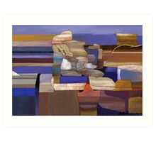 """Desert Rocks"" - colorful stacks of Arizona rocks. Art Print"