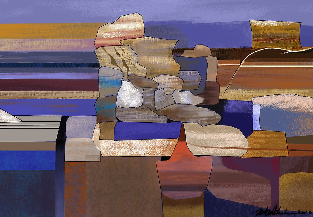 """Desert Rocks"" - colorful stacks of Arizona rocks. by Patrice Baldwin"