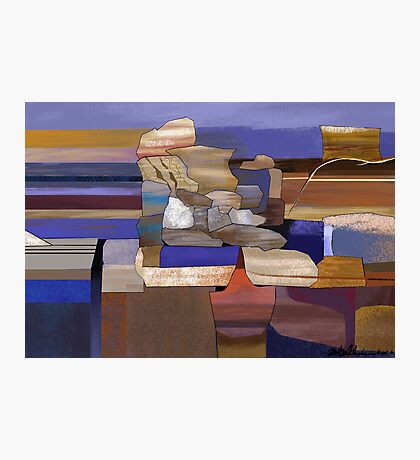 """Desert Rocks"" - colorful stacks of Arizona rocks. Photographic Print"