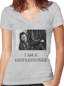 Hiddlestoner Women's Fitted V-Neck T-Shirt