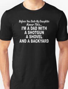 Shotgun Dad Fathers Day Gift T-Shirt
