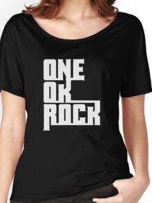 One OK Rock japanese rock band black Women's Relaxed Fit T-Shirt