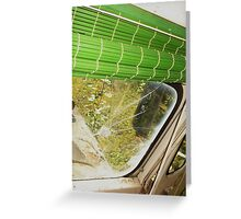 Driving into bullets Greeting Card