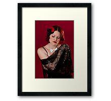 A Pensive Doll Framed Print