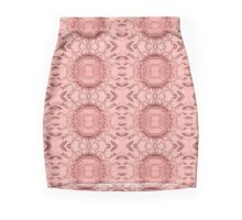 Crystal Cut Rose Stripe Mini Skirt